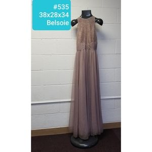 Sz6 tan Belsoie Bridesmaid/motherof Bride dress
